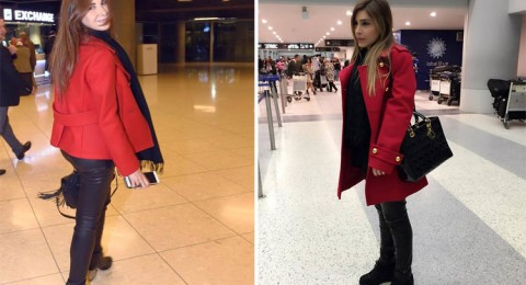 نانسي ويارا في إطلالة متشابهة بالمطار!