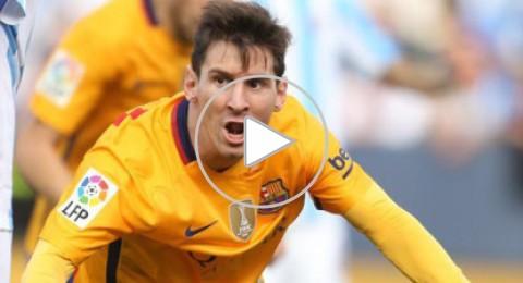 ميسي يقود برشلونة لتخطي ملقا و الابتعاد بصدارة الدوري الاسباني
