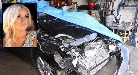 منع ليندسي لوهان من القيادة بعد حادث طرق