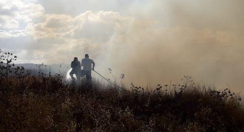 الناصرة: حريق في السلزيان والدخان ينتشر في سماء المدينة