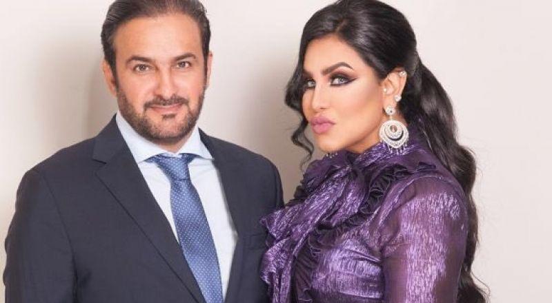 صور.. احلام تحتفل بقبلة في عيد زواجها