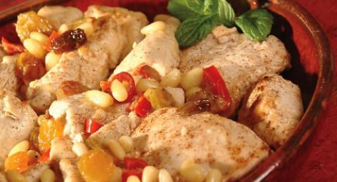 وصفة جديدة : صدر الحبش بالطعم الحامض الحلو