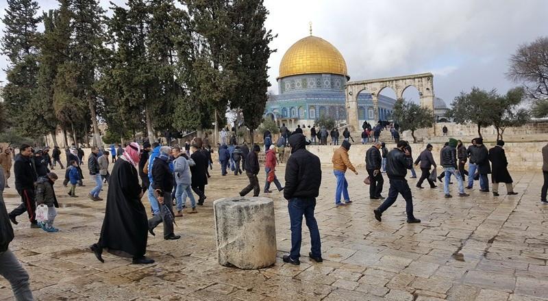 مفتي فلسطين : لا حق للاسرائيليين في المسجد الأقصى