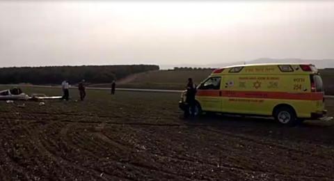 سقوط طائرة قرب سولم في مرج بن عامر ومصرع شخص