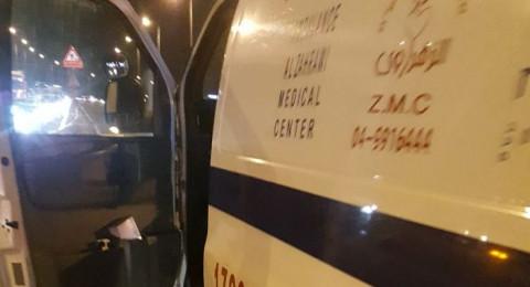 طمرة: اصابة طفل 6 سنوات اثر حادث دهس على الشارع الرئيسي