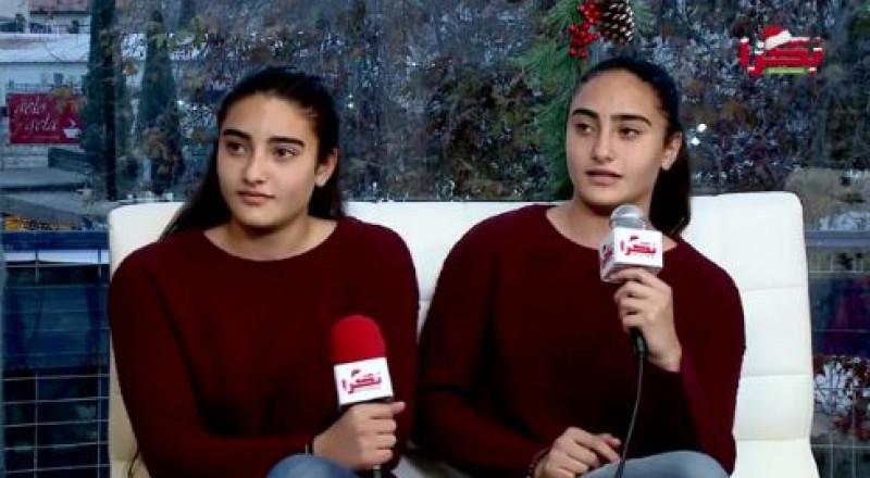 أسل ولنا شيخ سليمان، توأمان تطمحان برفع اسم الناصرة بكرة القدم النسائية