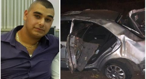 مصرع الشاب آدم زريق من عيلبون بحادث طرق مروع على شارع 65