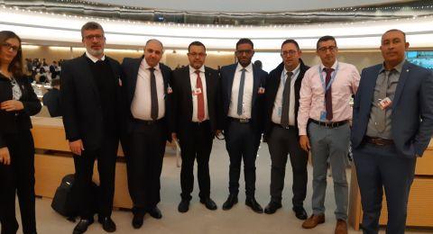 وفد الحركة الإسلامية في مؤتمر الجمعيات غير الحكومية ودورة تدريبية في القانون الدولي لحقوق الإنسان في جنيف