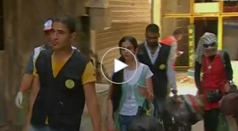 تلاميذ مخيم اليرموك المحاصر يؤدون امتحاناتهم في دمشق