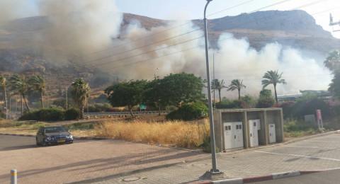 حريقان قرب طبريا .. بجانب وادي الحمام وفي