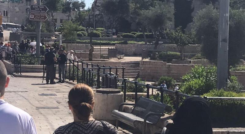 القدس: ريفلين يزور باب العامود