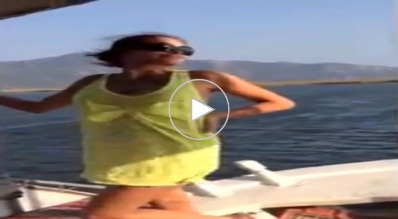 بالفيديو.. دومينيك حوراني ترقص بجنون ساخن على شواطئ تركيا !!