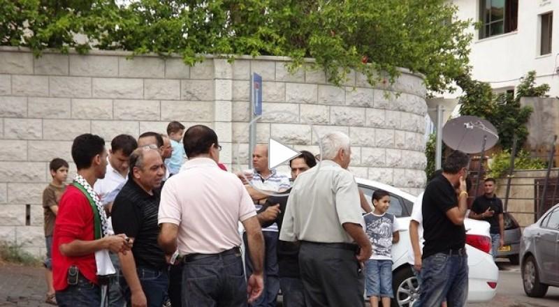 مظاهرة قطرية في جلجولية مشاركة كافة الأطر