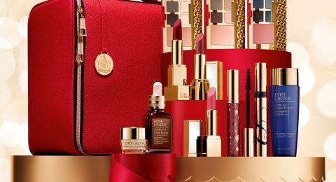 حملات شهر كانون الاول في Estee Lauder حقيبة فاخرة مع منتجات بقيمة 2500 شيكل بـ 499 فقط!!