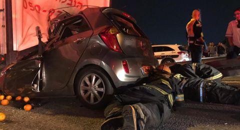 قتيلان بحادث طرق مروع على شارع 6 قرب كفر قاسم!