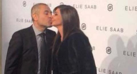 اليسا تخطف قبلة قوية من ايلي صعب في باريس