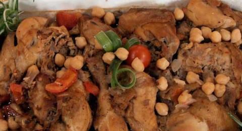 طاجن الدجاج بالحمص صحا وهنا