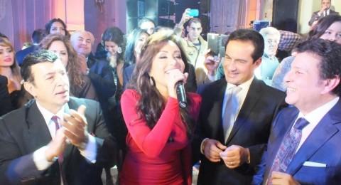 هاني شاكر يحتفل بخطوبة ابنه