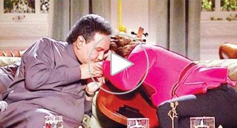 محمد عبده يمازح أصالة ويتبادل القبلات معها على الهواء
