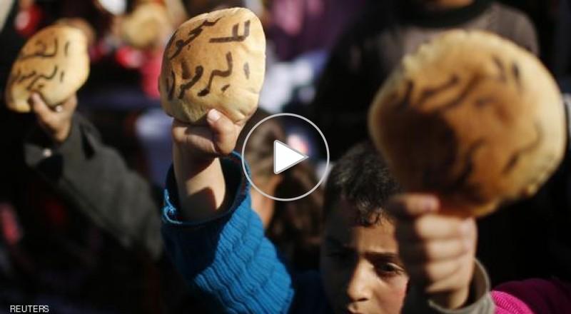 وصول اول شحنة مساعدات لمخيم اليرموك