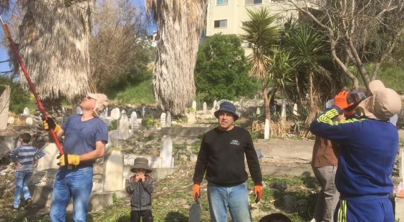 قرية مصمص تشهد يوم عمل تطوعي