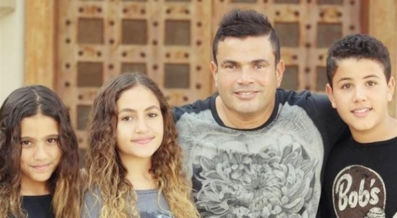 رد فعل ابناء عمرو دياب بعد انتشار خبر طلاق والدتهم