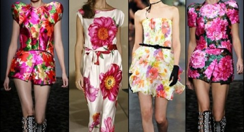الورود تسيطر على عالم الأزياء في موسم 2013