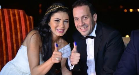 حفلة زواج نجلاء بدر… وهل حضر نجل العريس من طليقته؟