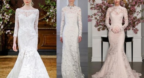 إليك أجمل التصاميم لفساتين زفاف بموديلات محتشمة في 2016/2017