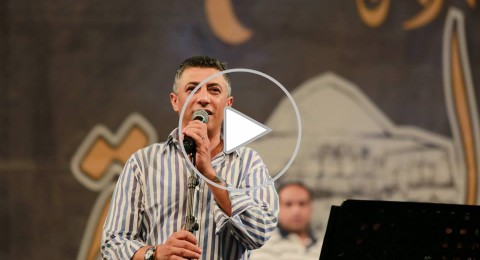 الفنان عمر العبدلات يفتتح مهرجان البيرة الدولي الرابع