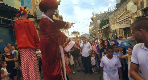 المئات من أهالي مدينة حيفا يشاركون في مسيرة عيد الأضحى المبارك في وادي النسناس – حيفا