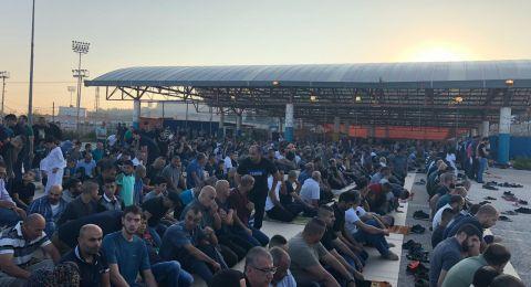 ام الفحم:  المئات يؤدون صلاة عيد الأضحى المبارك