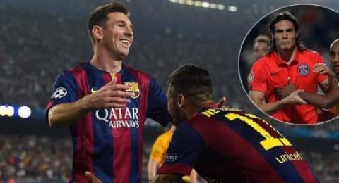 برشلونة يهزم اياكس بأقل مجهود وسان جيرمان يخطف الفوز بهدف كافاني