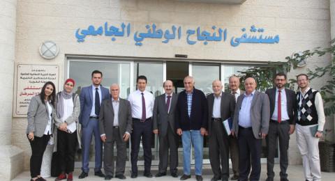 ممثل الصندوق العربي يزور مؤسسات نابلس