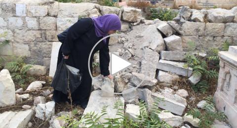 القدس : تعرض مقبرة الدجاني في جبل النبي داوود للاعتداء
