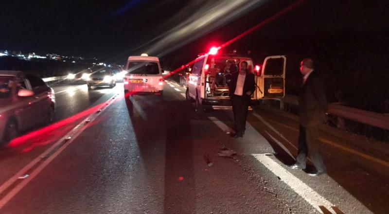 الناصرة: حادث طرق قرب الرينة، واصابتان متوسطتان