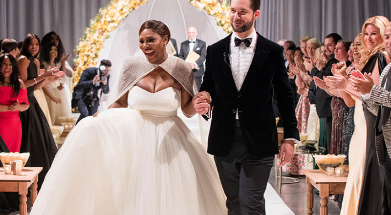 زفاف سيرينا وليامز بحضور بيونسيه وكيم كاردشيان
