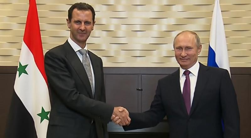 الأسد بزيارة مفاجئة في سوتشي ويلتقي مع بوتين