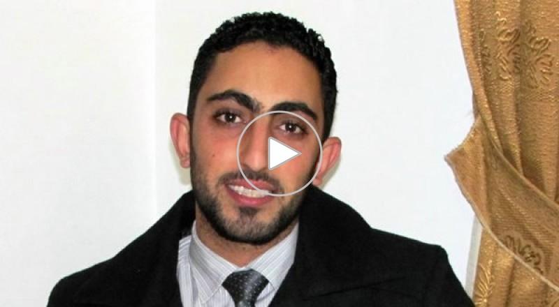 امجد علي دلاشه نائب عرب 48 في  مجلس الطلبة في الجامعة الاردنية  علينا مسؤوليات كبرية في المجلس