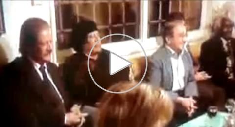 سهرة مع القذافي في منزل الممثل دريد لحام