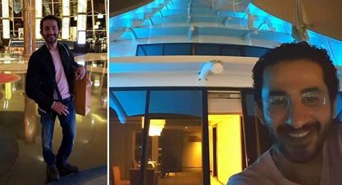 أحمد حلمي وسيلفي من فندق الجميرا