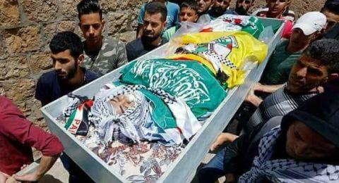 تشييع جثمان الشهيد عدي أبو خليل (15 عاما) في قرية عين سينيا برام الله