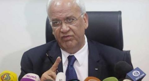 عريقات يدين نقل سفارة البارغواي إلى القدس