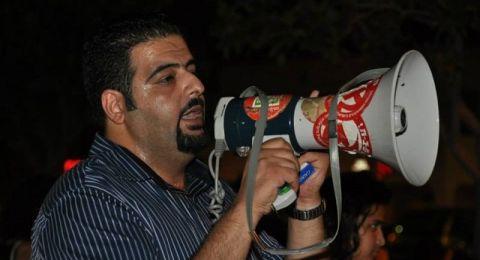 اعتقال رجا زعاترة بعد نشره عن السلسلة البشرية الالتحامية مع غزّة
