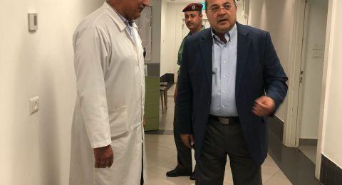د احمد الطيبي عند خروجه من زيارة الرئيس الفلسطيني: تحسن ملحوظ في حالته