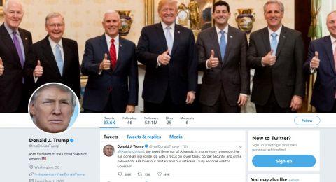 مساعدو ترامب يتقصدون كتابة تغريداته بأخطاء إملائية