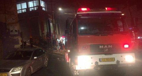 سوق الناصرة: اندلاع حريق بمبنى مهجور دون اصابات