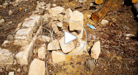 اعمال تخريب في مقبرة قرية لوبية المهجرة