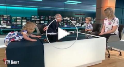 طفلة تضع مذيع بريطاني شهير في ورطة مضحكة على الهواء