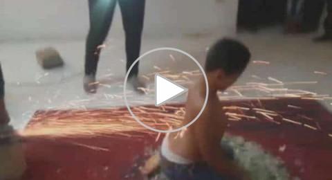 طفل مصري خارق يجر السيارات ولا تحرقه النار